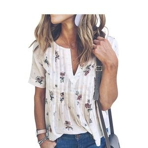 Tops - Boho Floral Blouse